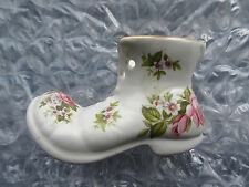 Pottery Old Foley James Kent Harmony Rose Boot Figurine