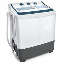 Ivation Small Compact Portable Washing Machine – Twin Tub Washer & Spin