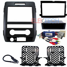 Radio Replacement Interface & Dash Mount Kit Double-DIN w/Antenna for Ford F-150