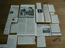 JOHN BARRY - MAGAZINE CUTTINGS COLLECTION (REF T4)