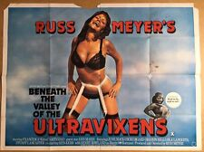 Rare - Beneath The Valley Of The ULTRAVIXENS - UK QUAD Cinema POSTER Russ Meyers
