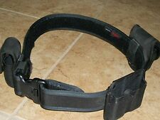 Bianchi Pistol Belt w/3 attachments, handcuffs, 2 mag holder, pepper spray holst