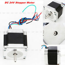 1Pc DC 24V Stepper Motor for Nema 23 Single Shaft 12.6Kgcm 1.8Degre 4 Leads 56mm