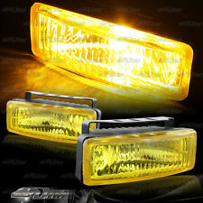 "5"" x 1.75"" Square Chrome/Yellow Bumper Fog Light Lamps+Switch+Relay Universal 1"