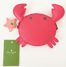 NWT KATE SPADE Make A Splash Crab Coin Purse Geranium $89 #WLRU2500