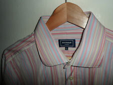 "STUNNING* Large DUCHAMP London Mens Long Sleeve Pink Shirt Size LARGE 16"" -WOW"