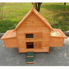 NEW Large Classical Chicken Coop house Chook Hutch with double Egg Cages T022
