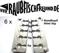 Bleigussform Rundkopf Mini Jig 2,3,5,6 und 9g für VMC 9147 Gr.2-10