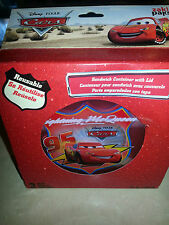 NIP 3 Disney Cars Lightning McQueen sandwich container with lid reusable