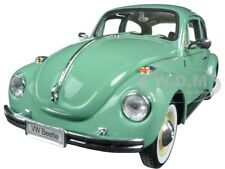 VOLKSWAGEN OLD BEETLE HARD TOP LIGHT GREEN 1/24 DIECAST MODEL CAR BY WELLY 22436
