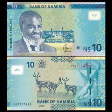 Namibia 10 Dollars, 2015, P-New, UNC Without Diamond