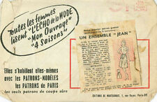 Vintage Corsage et Jupe French Sewing Pattern G250 Taille 44