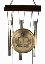 (1) ASIAN ORIENTAL ~ DOUBLE DRAGON ~ GONG w/WINDCHIMES Wind Chimes Decor