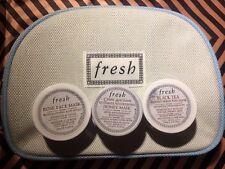 Fresh Lot 3 Deluxe Mask Samples Crème Ancienne Honey, Rose, Black Tea Masks,&bag