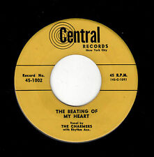 RARE NYC DOOWOP-CHARMERS-CENTRAL 1002-THE BEATING OF MY HEART/WHY DOES IT HAVE