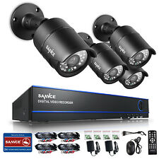 SANNCE 4CH HD 1080P HDMI DVR Outdoor 2MP IR CCTV Home Security Camera System