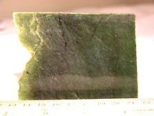 Jade slab slice 3.5x2.5x0.25 inch deep green jy18
