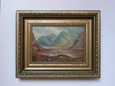 Antique 18th century Oil on Canvas painting of Lake District Cumbria Wasteland