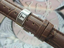 NEW #20mm BROWN LEATHER WITH STAINLESS STEEL BUCKLE FOR TISSOT MEN WATCH