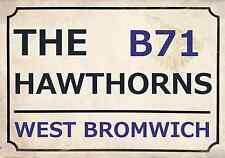 West Brom Football Art Print Street Sign The Baggies Footy Design