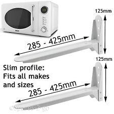 2 Bianco Universale Forno a Microonde Montaggio A Parete Stand PARENTESI ALLUNGABILE braccio regolabili
