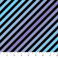 Northcott Swizzle Stix Black Purple Lavender Blue Diagonal Stripe Quilt Fabric