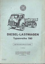 STEYR PUCH DIESEL LASTWAGEN  780 Betriebsanleitung 1961 Bedienungsanleitung BA