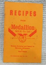 Vintage Recipes Book From Old Medallion Milk Co Winnipeg Manitoba Canada FREE SH