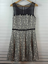 REVIEW sz 14 womens Mesh Top Print Dress [#767]