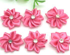 New 10pcs 25mm Poinsettia Satin Ribbon Flower For DIY Decoration Applique Rose