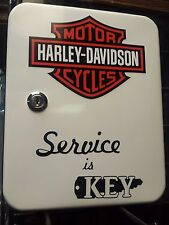 CLASSIC  MOTORCYCLE  1950S GAS OIL SERVICE STATION KEY BOX NEW