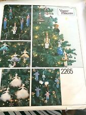 VINTAGE Vogue Transfer Sewing Pattern Nutcracker Christmas Ornaments