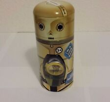 FACTORY SEALED C3PO STAR WARS FORCE AWAKENS WATCH BLACK/SLVR BAND PLUS COIN BANK