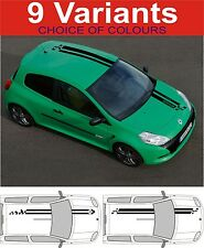 renault clio megane sport bonnet roof stripes decals stickers graphics