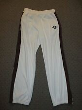 VINTAGE 80'S PHAT FARM VELOUR TRACK SUIT WARM UP PANTS WHITE BROWN MENS XL RETRO
