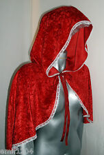 LITTLE RED RIDING HOOD VELVET CAPE