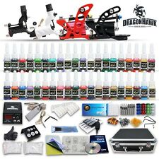 Professional Tattoo Kit Equipment 4 Rotary Machine Gun Power Supply 40 Inks Set