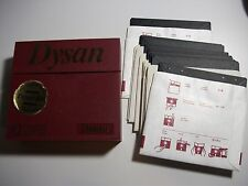 10 x 5.25 Floppy Discs in Paper Sleeves in Dysan Fold out Plastic Case - 5 1/4