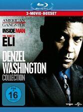 ACTORS BOX: DENZEL WASHINGTON-AMERICAN GANGSTER-INSIDE MAN- ELI - 3 BLU-RAY NEU