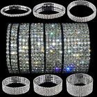 Crystal Rhinestone Stretch Bracelet Bangle Wristband Elastic Wedding Bridal Gift