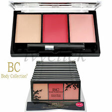 BODY COLLECTION BEAUTY BLUSH BLUSHER 3 COLOURS GIRLS WOMEN MAKEUP CHEEKS