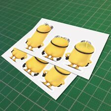 Minion Butt Back Naked Decal Vinyl Funny Car Window JDM Euro Sticker 150 mm 6''
