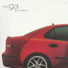 Saab 93 Sport Saloon UK Brochure 2004-2005 Linear Vector Sport Aero Models