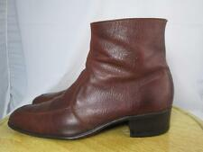 Vintage Florsheim Ankle Dress Boots Beatle Boots Brown Leather Size 9 C