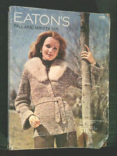 1975 - VINTAGE EATON'S FALL & WINTER CATALOG - 1975 - SEE FASHIONS & STYLES