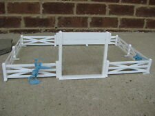 Marx Western Farm Ranch Fence Gate 1/32 54MM Cowboys Playset Toy Diorama White