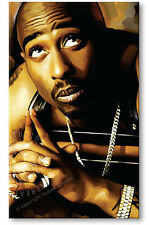 TUPAC SHAKUR 2pac Artist Signed Original Print poster CANVAS US POP ART PAINTING