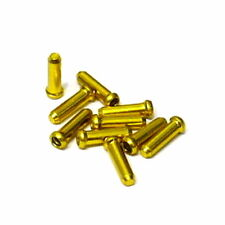 gobike88 Jagwire 1.8mm Gold inner cable end cap, 10 pieces per set