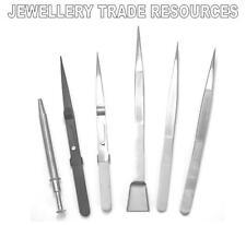 Nouveau Bijoutiers & gemologists gem stone & diamond pinces ensemble de 6