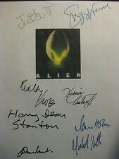 Alien Signed 1979 Film Script X8 Ridley Scott Tom Skerritt Sigourney Weaver rpnt